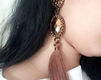 Clip earring crystal