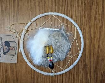 5 1/2 in Dreamcatcher with Rabbit Fur Accent