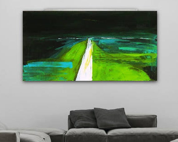 Unikat: Schritte des Lebens - 120 x 80 cm