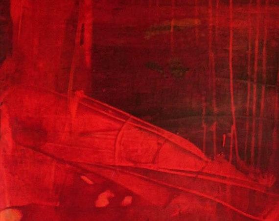 Unikat: Ersehnter Liebesregen - 100 x 60 cm