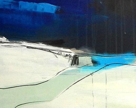 Unikat: Seine Mitte finden I - 70 x 70 cm