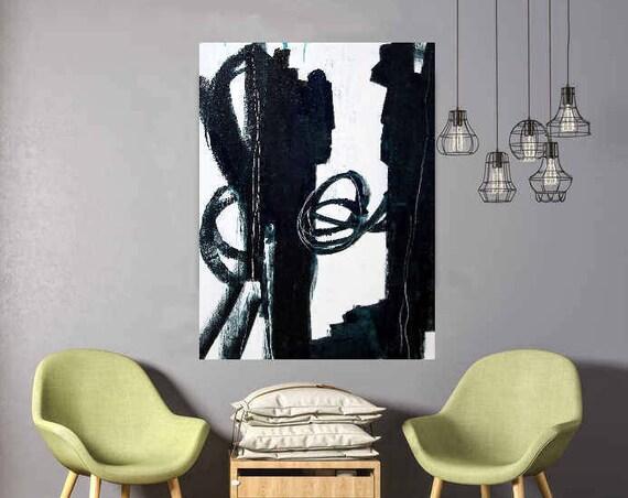 Bild schwarzweiss 100 x 80 cm - Auf gleicher Augenhöhe