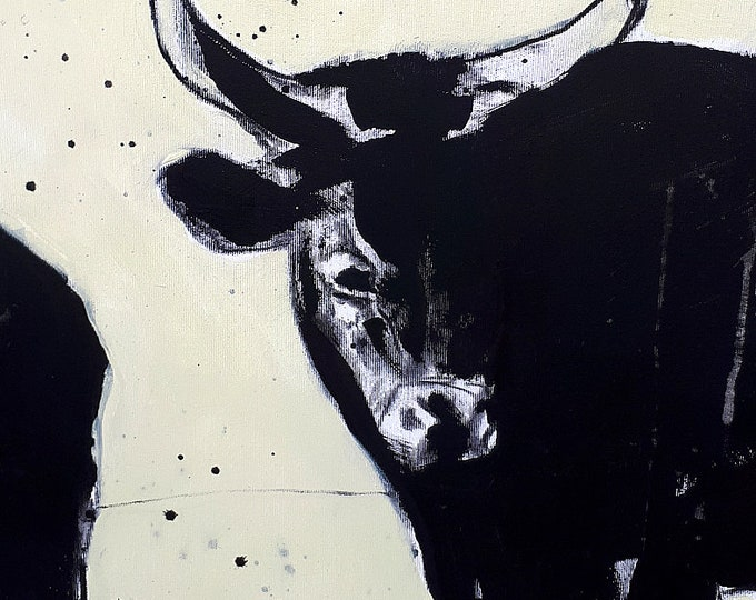 Let bull / water buffalo paint - height 100 cm