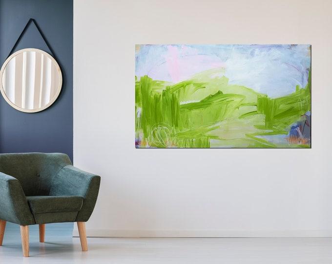 160 x 100 cm - Grünes Bild
