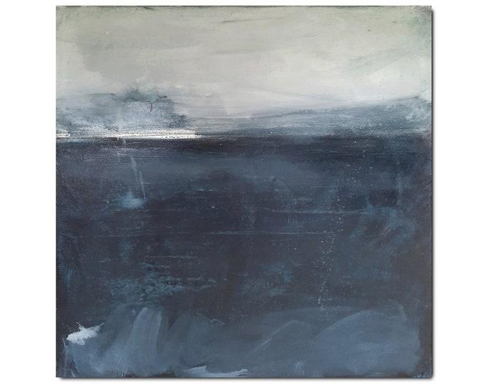 grey blue picture / Short shower / 110 x 130 cm