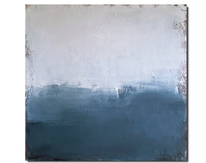 blue pictures grey / way out / 120 x 100 cm