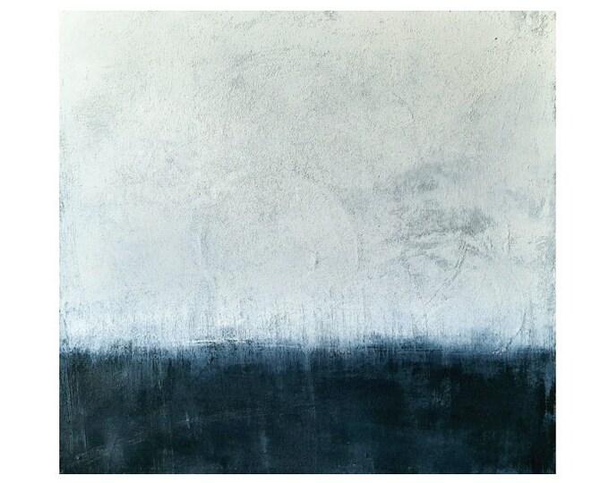 blau weiße Bilder malen lassen / Wunschmaß