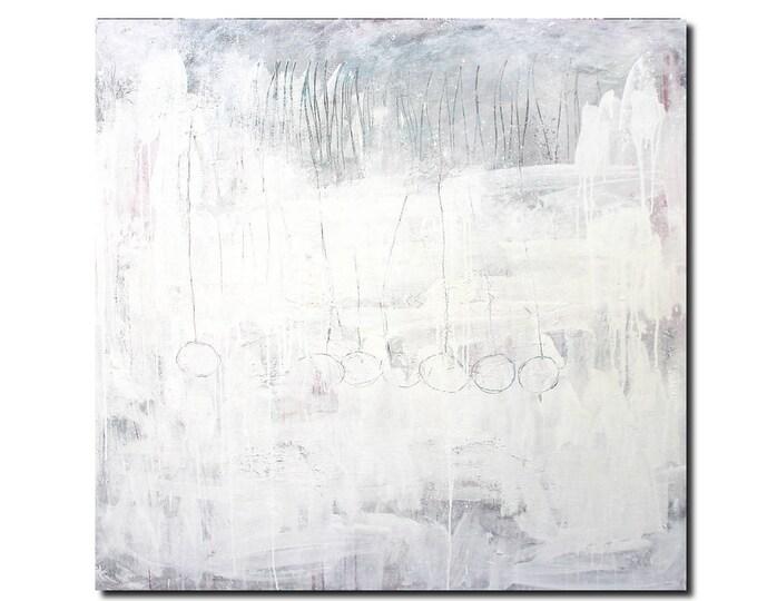 weiße große Bilder malen lassen / Wunschmaß
