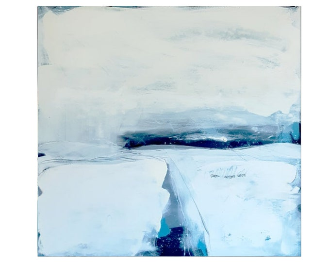 let white landscape pictures paint / desired measure