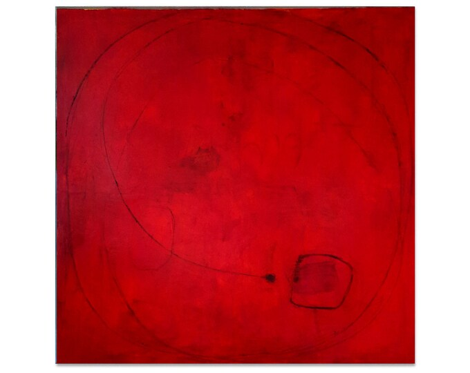 red large pictures / summer time / 120 x 120 cm