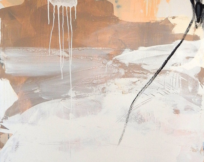 canvas canvas brown white beige - painting large painting