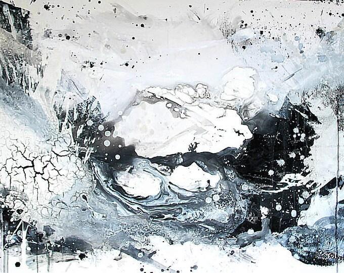 Auftragsbild - Thema: Gedankenwirbel - schwarz weiß
