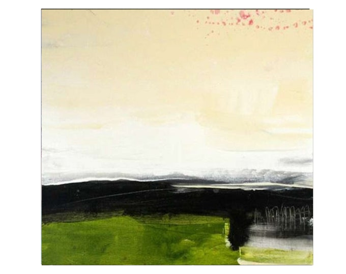 green pictures landscape / night hike / 80 x 100 cm