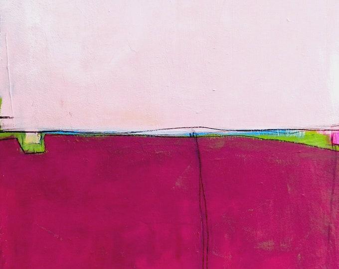 Rosa Rotes Gemälde 120 x 80 cm