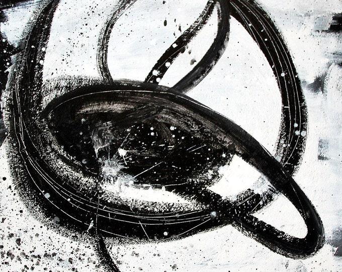 Unikate: Nightswimming schwarzweiß 95 x 95 cm