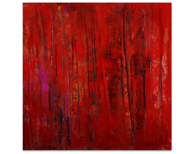 red large paintings / view / 100 x 120