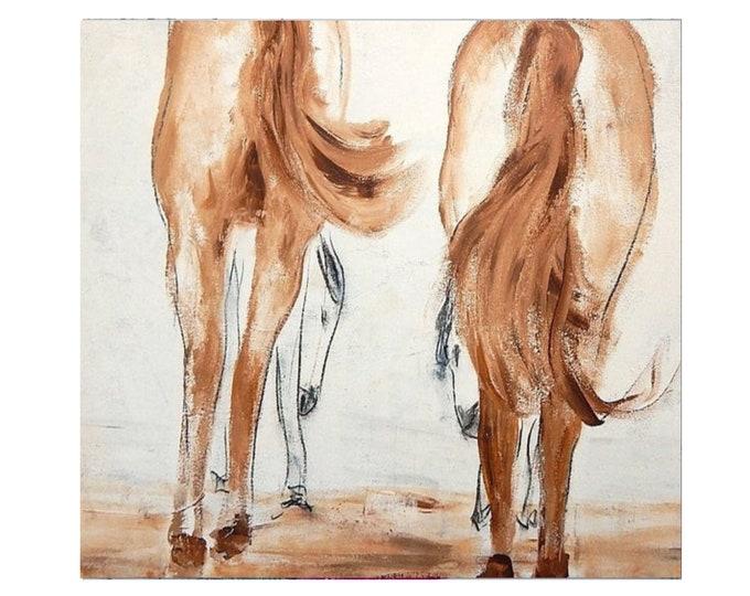 big horse painting / Parental care / xxl