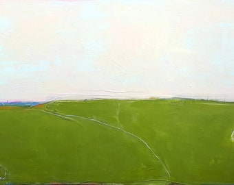 huge picture 190 x 115 cm green beige