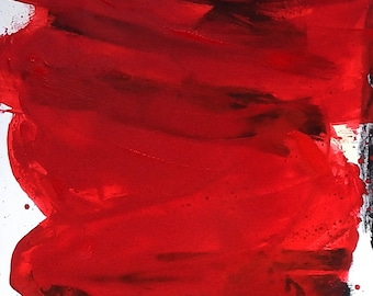 canvas canvas red large picture large painting