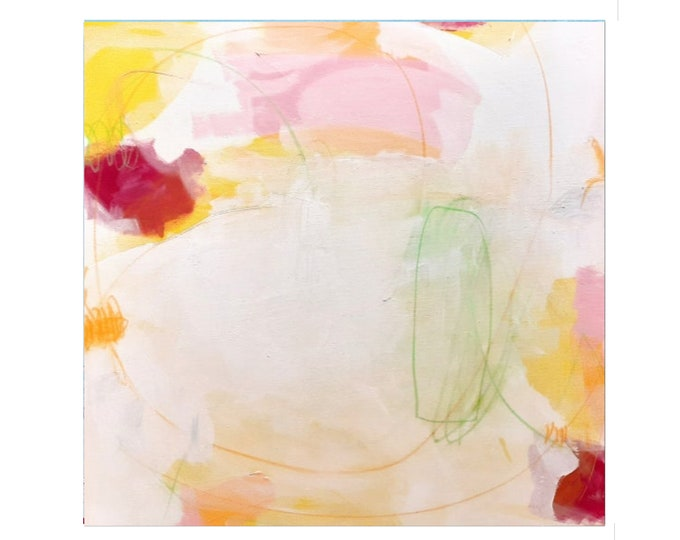 white abstract pictures / picnic 2 / 80 x 80 cm