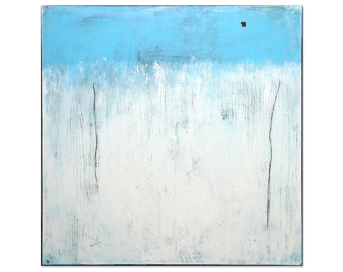 blaue große Bilder malen lassen / Wunschmaß