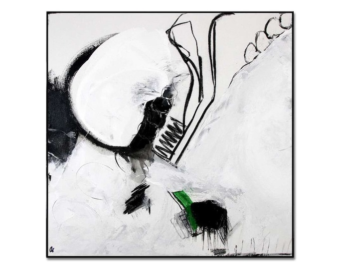 black white picture 70 x 70 cm