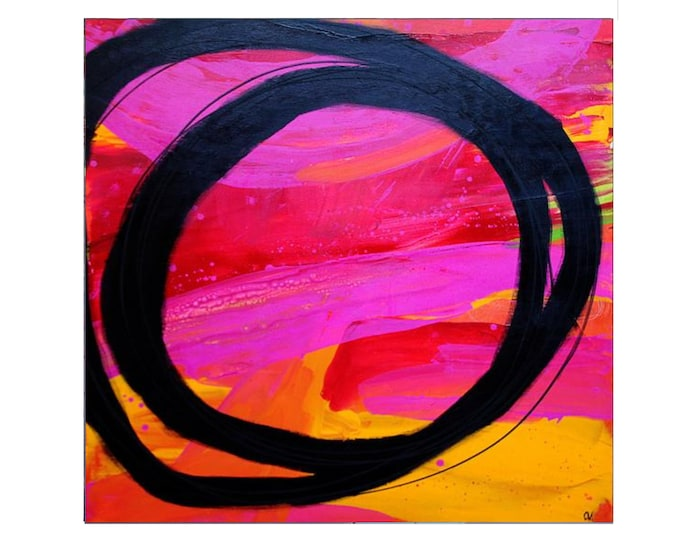 abstract red image / party making / 120 x 120