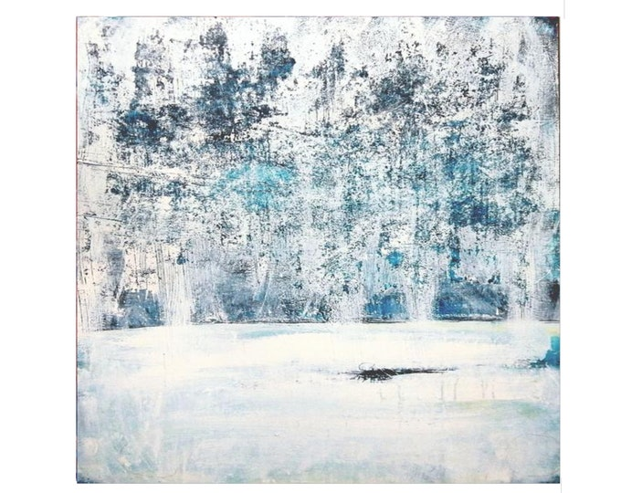 white pictures / winter forest / 120 x 90 cm