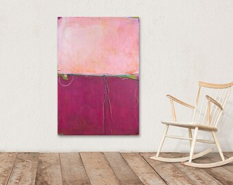 pink rotas painting landscape