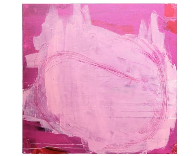 pink pink picture / outbreak of thoughts 100 x 80