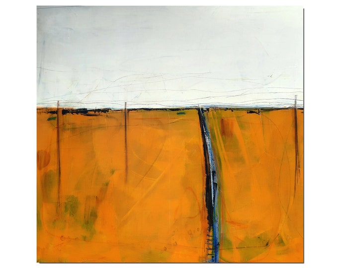 abstract orange picture / camping search 100 x 150 cm