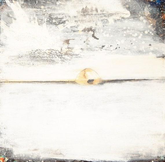 100 x 100 cm - Dem Schneegestöber ganz nah sein
