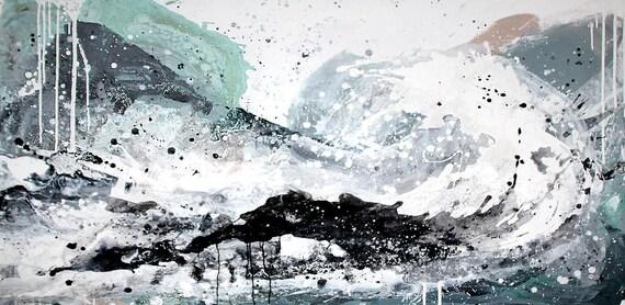 Surfende Gedanken - Auftragsmalerei - Höhe 100 cm