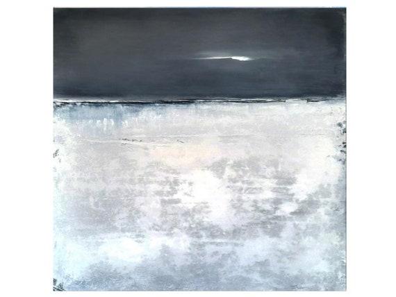blue grey pictures / evening light 100 x 100 cm