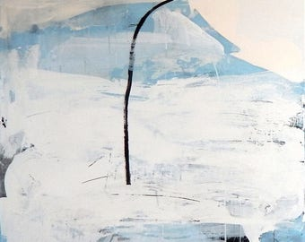 Abstract painting modern paintings pictures abstract image with white and blue