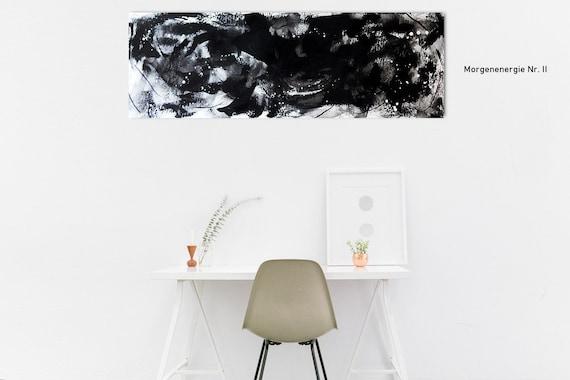 150 x 50 cm - Bild schwarz weiß