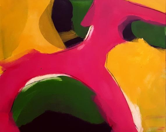 Wuff - 50 x 60 cm - buntes Bild