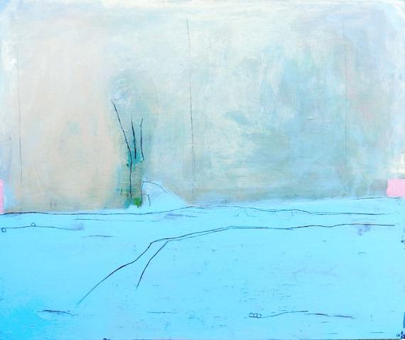 Hellblaues Bild 120 x 100 cm