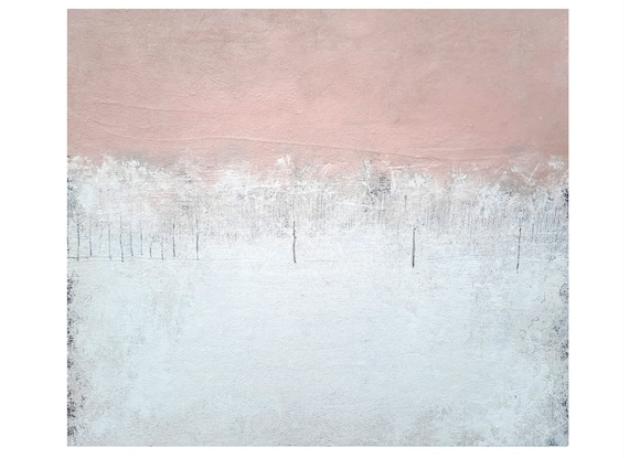 pink white pictures / I want to go home 100 x 100 cm