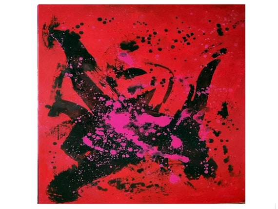 red pictures / dance sports / 110 x 130 cm