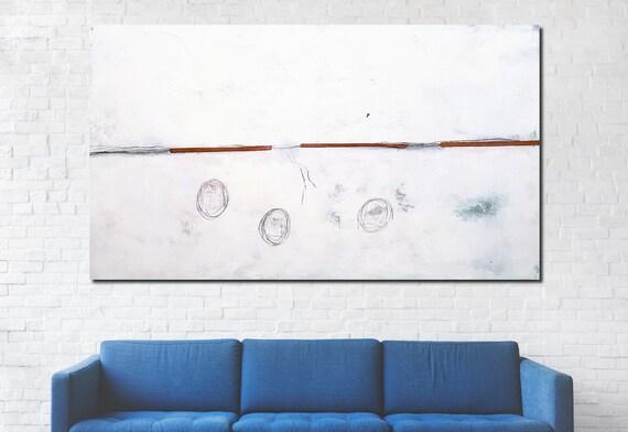 220 x 130 cm - weisses großes Bild