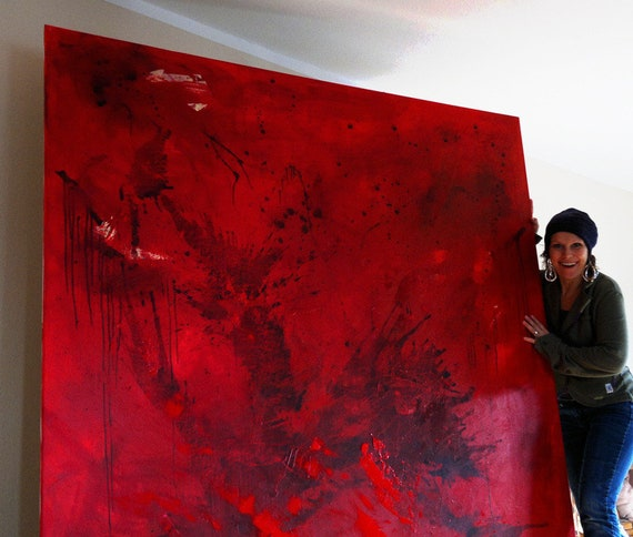 canvas canvas Red picture xxl paintlarge painting