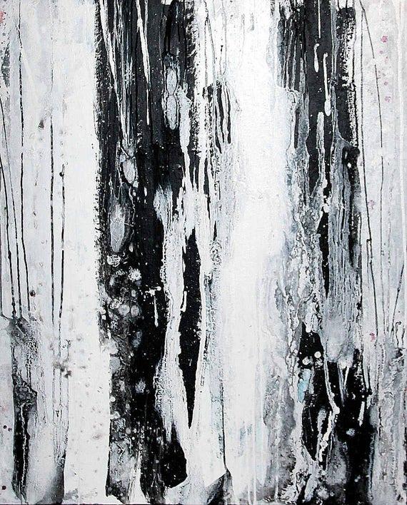 Unikat: Regentropfen - 100 x 80 cm
