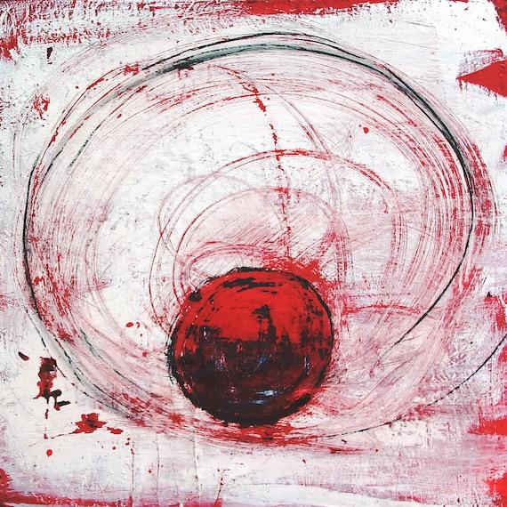 Thema: Gedankenkreise - Höhe 100 cm Auftragsbild