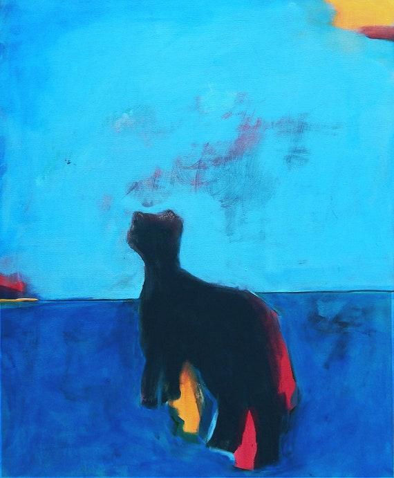 Blaues Bild - 90 x 70 cm