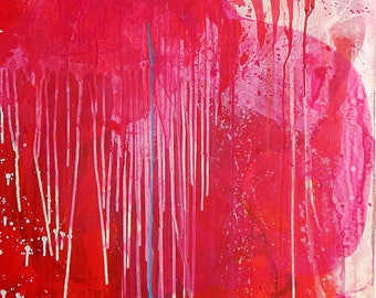 Abstract painting modern paintings pictures abstract pink picture