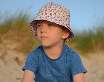 c35ebb5f8a21e Boys Summer Sun Hat With Brim, Bucket Hat For Boys