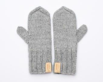 Boys Girls Toddlers Warm Mitten Star Heart Printed Winter Warm Knitted Gloves
