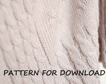 43cc120b3 Knit Baby Blanket Pattern in English Knitting Pattern for