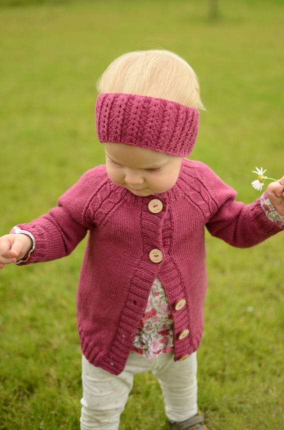 b88085f37 Hand Knitted Baby Cardigan Baby Girl Knit Cardigan Toddler